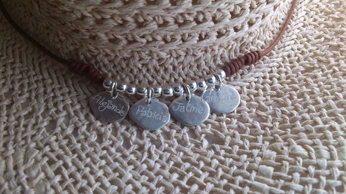 925 SILVER NECKLACE WITH FOUR MEDALS